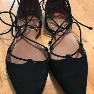 Zara Basic Collection Size 9 Lace up Sandals!